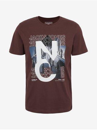 Tričká s krátkym rukávom pre mužov Jack & Jones - hnedá