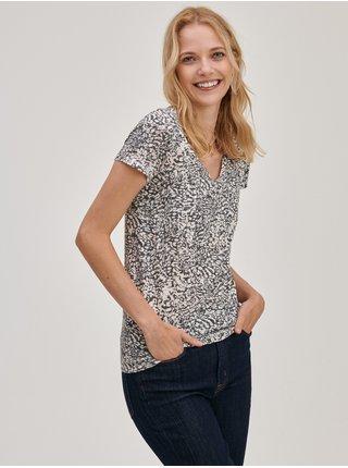 Šedé dámské tričko Vzorované GAP