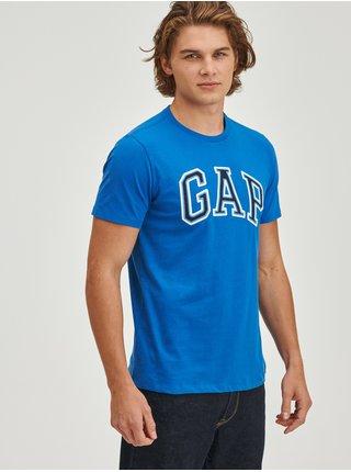Modré pánské tričko z organické bavlny bas arch GAP