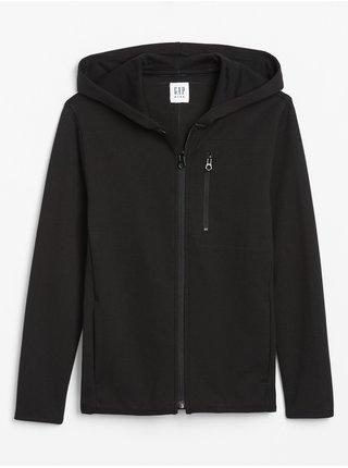 Černá klučičí mikina GapFit performance hoodie GAP