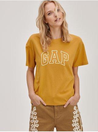 Žluté dámské tričko s logem GAP easy