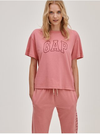 Růžové dámské tričko s logem GAP easy