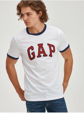 Bílé pánské tričko ringer s logem GAP