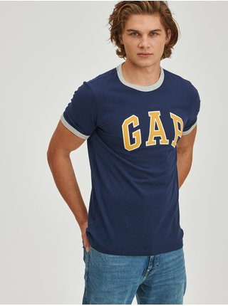 Modré pánské tričko ringer s logem GAP