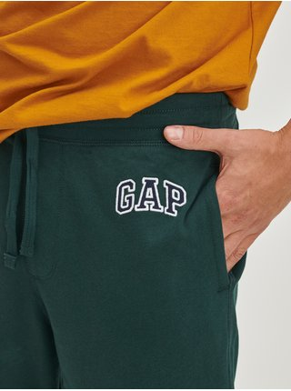 Zelené pánské tepláky arch s logem GAP