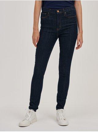 Modré dámské džíny skinny high rise GAP