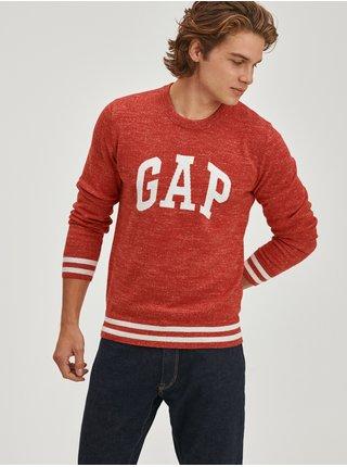 Červený pánský svetr Melírovaný s logem GAP