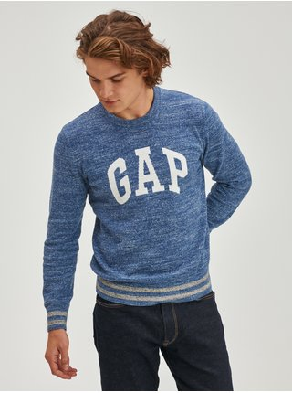 Modrý pánský svetr Melírovaný s logem GAP
