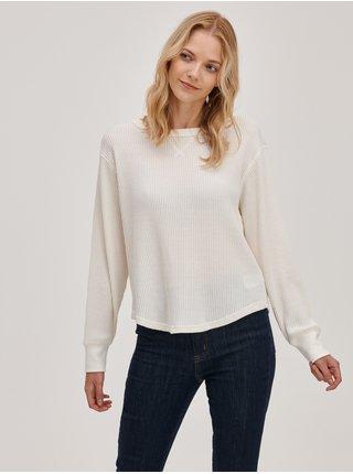 Smetanové dámské tričko s vaflovým vzorem GAP