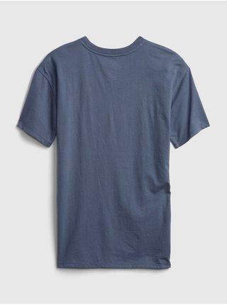Modré holčičí tričko FRIENDS graphic t-shirt GAP