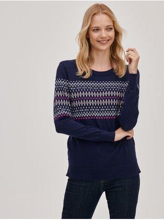 Modrý dámský svetr Pletený se vzorem GAP