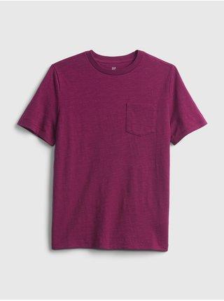 Fialové klučičí tričko s kapsičkou GAP