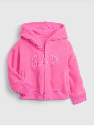 Růžová holčičí mikina GAP Logo profleece active top