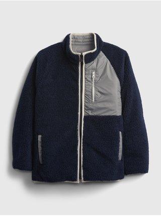 Modrá klučičí bunda oboustranná na zip GAP