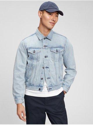 Modrá pánská džínová bunda distressed icon denim jacket GAP