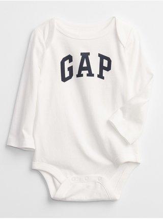 Bílé klučičí body GAP Logo bodysuit
