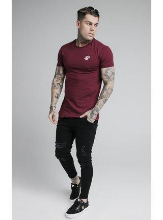 Vínové pánské tričko TEE GYM HEM STRAIGHT S/S