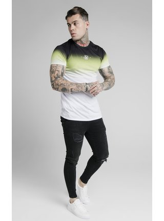 Zeleno-bílé pánské tričko  TEE FADE HIGH S/S