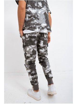 Šedé pánské maskáčové kalhoty  PANTS CARGO CAMO