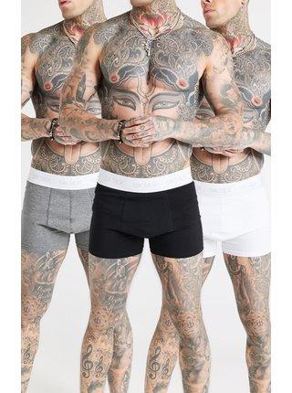 Sada tří pánských boxerek v černé,šedé a bílé barvě PACK BOXERS