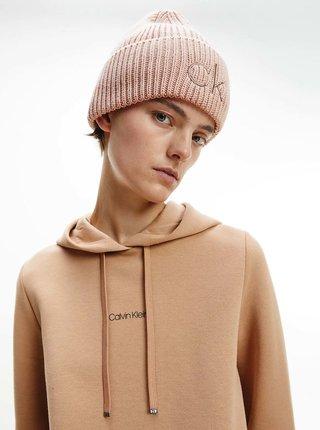 Čiapky, čelenky, klobúky pre ženy Calvin Klein - svetloružová