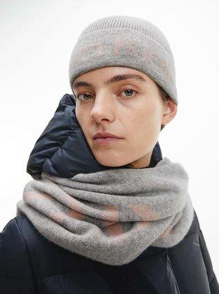 Čiapky, čelenky, klobúky pre ženy Calvin Klein - sivá