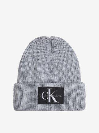 Šedá dámská vlněná čepice Calvin Klein