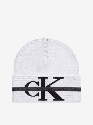 Černo-bílá pánská čepice Calvin Klein