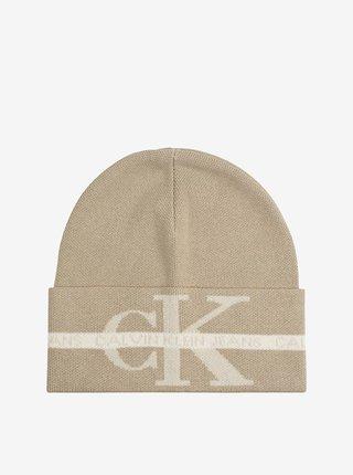 Béžová pánská čepice Calvin Klein