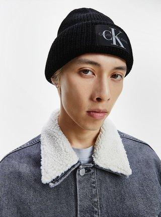 Černá pánská vlněná čepice Calvin Klein