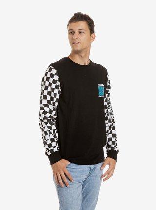 Bielo-čierne pánske tričko s potlačou Meatfly Judgement