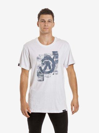 Biele pánske tričko s potlačou Meatfly Press