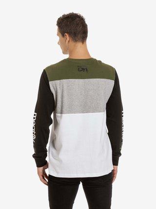 Černo-bílé pánské tričko s potiskem Meatfly Judgement