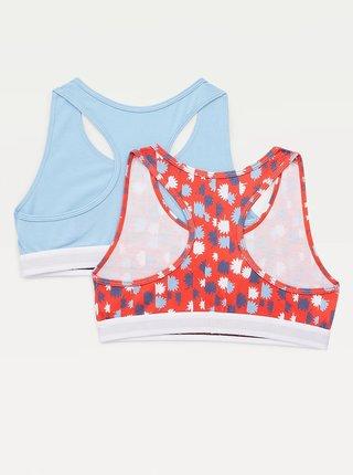 Sada dvou holčičích podprsenek v červené a modré barvě Tommy Hilfiger