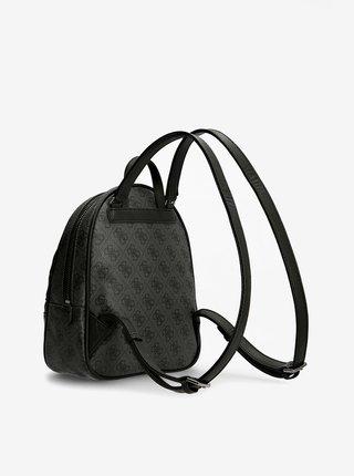 Čierno-šedý dámsky vzorovaný batoh Guess