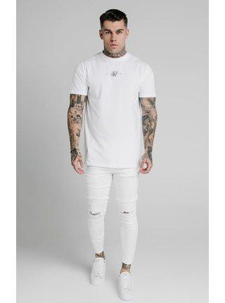 Bílé pánské skinny fit džíny  DENIM DISTRESSED SKINNY