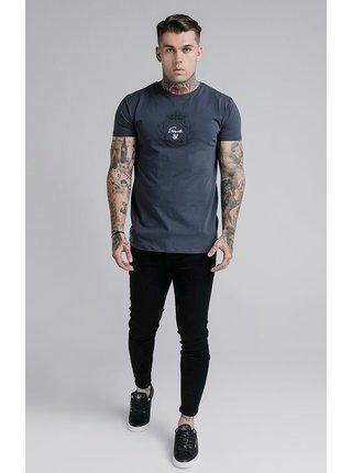 Tmavě modré pánské tričko TEE GYM PRESTIGE EMBOSSED S/S