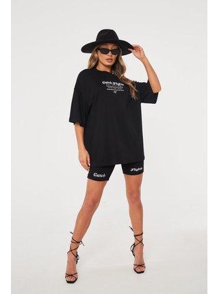 Černé dámské tričko TEE OVERSIZED FLIGHTS CATCH