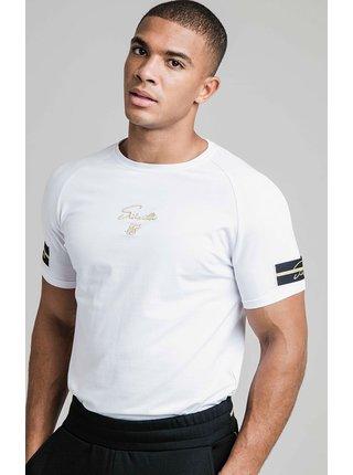Bílé pánské tričko  TEE GYM RAGLAN TAPE EXPOSED