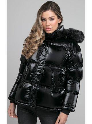 Černá dámská bunda  JACKET PADDED FUR