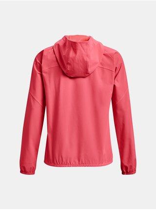 Bunda Under Armour Woven Hooded Jacket - růžová