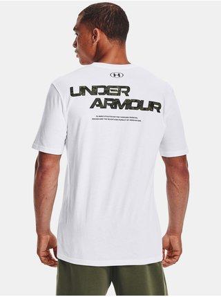 Tričko Under Armour ABC CAMO FILL WORDMARK SS - bílá