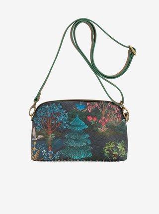 Tmavomodrá dámska vzorovaná crossbody kabelka PiP studio Garden Dark Blue