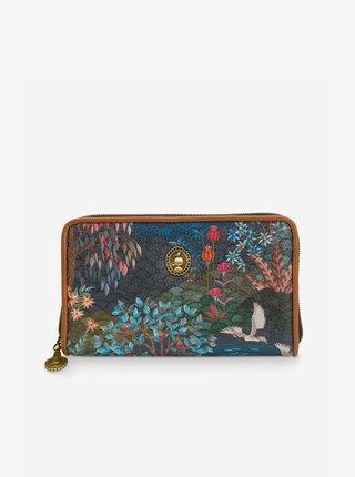 Tmavomodrá dámska vzorovaná peňaženka PiP studio Garden Dark Blue