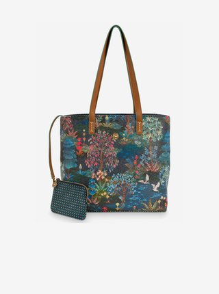 Tmavomodrá dámska kabelka PiP studio Garden Dark Blue