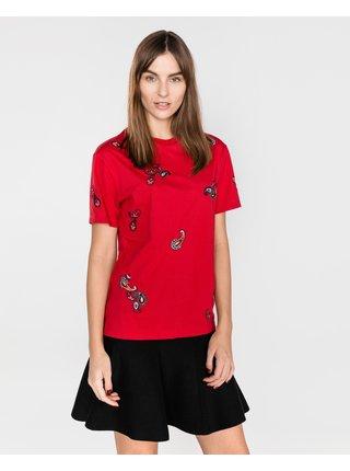 Tričká s krátkym rukávom pre ženy Pinko - červená