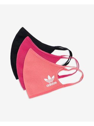 Rúška pre mužov adidas Originals - čierna, ružová
