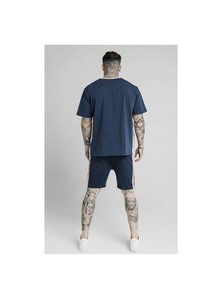 Tmavě modré pánské tričko TEE TAPE RETRO ESSENTIAL S/S