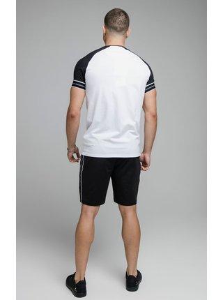 Tmavě modro-bílé pánské tričko  TEE GYM TAPE STATUS S/S