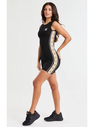 Černé dámské pouzdrové šaty DRESS TAPE PREMIUM